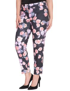 Printed Kady Fit Pant | Women's Plus Size Pants | ELOQUII