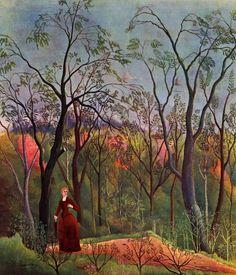 Henri Rousseau - El Paseo Por el Bosque, 1886