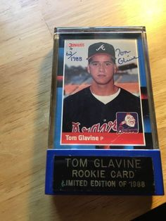 Tom Glavine Rookie Card 1988 Donruss #644 Limited Edition 62/1988 Signed W/ Case #Donruss #AtlantaBraves