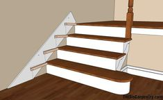 How to install skirt boards on stairs
