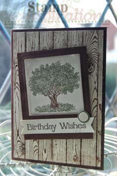 """Kerry Timms Stampin' Up! Demonstrator in the UK.  Hardwood Stamp meets """"Look up to Father"""".  Visit my blog at www.kerrysstampinspiration.blogspot.com for more ideas and inspiration."""