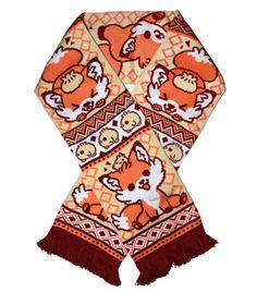 Doki Fox Scarf from http://www.sugarbunnyshop.com  Love all their stuff! Sooooo cute!