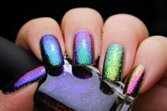 Iced Lacquer: I Love Nail Polish Ultra Chrome Flakies Collection .... Absolutely Gorgeous & I Love Any Nail Polish that has All the Colors of the Rainbow!