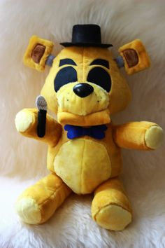 Five Nights at Freddy's Golden Freddy Plush by NightmarenCrafts