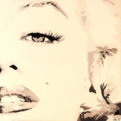 She Knows Marilyn Monroe by Pop Art Queen Graphic Art on Wrapped Canvas