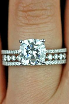 Brilliant Cushion Cut Engagement Rings ❤ See more: http://www.weddingforward.com/cushion-cut-engagement-rings/ #weddings