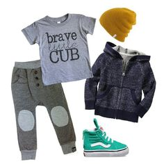 Brave Little Cub tee by Dear Cub www.dearcub.com
