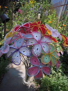 Bouquet de fleurs crochet