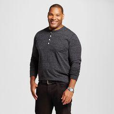 Men's Big & Tall Solid Long Sleeve Henley - Merona, Size:
