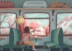 Animated gif uploaded by María José. Find images and videos about gif, summer and primavera on We Heart It - the app to get lost in what you love. Cartoon Kunst, Cartoon Art, Art And Illustration, Aesthetic Art, Aesthetic Anime, Animation, Arte 8 Bits, 8bit Art, Nature Gif
