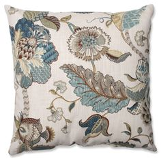Pillow Perfect Finders Keepers Blue Throw Pillow   Overstock™ Shopping - Great Deals on Pillow Perfect Throw Pillows