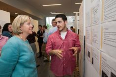 Nick Rizzo '13, Biology, with Vice President of Academic Affairs Dr. Joyce De Leo