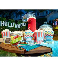 Popcorn Station | Movie Night Party Ideas from @Jo-Ann Fabric and Craft Stores