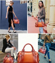 For some women, getting a genuine designer bag is not really something to rush into. As these handbags can certainly be so costly, most women usually worry over their selections prior to making an actual ladies handbag purchase. Leather Bags Handmade, Louis Vuitton Speedy Bag, Leather Fashion, Fashion Bags, Fashion Trends, Leather Handbags, Shoulder Strap, Lady, Street Style