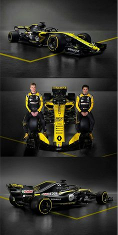 Renault unveils 2018 F1 car | Renault F1 drivers Carlos Sainz and Nico Hülkenberg introduced the Renault RS18, the team's new car for the 2018 season. The new livery is certainly striking, and the car has  also been technically  upgraded. The first track