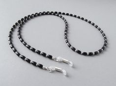 7b32f6b7ce9e Black Eyeglass Chain Onyx Silver-Plated Sunglasses by HalfSnow. Gold Chains  For MenMale EyesEyeglass HolderBeaded JewelleryBeaded NecklaceReading ...