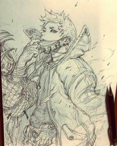 68 отметок «Нравится», 2 комментариев — STATO (@ozo_stato) в Instagram: «T.T.T 러프 스케치 • 네온 #TTT #시간여행자 #캐릭터 #설정 #character #stato #sketch #pencil #draw #concept #design…»