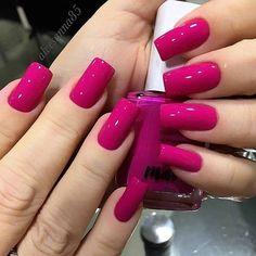 Magenta Glam da Avon By · · · · · · ·… in 2019 Magenta Nails, Pink Nails, Perfect Nails, Gorgeous Nails, Stylish Nails, Trendy Nails, Nail Paint Shades, Short Square Nails, Luxury Nails