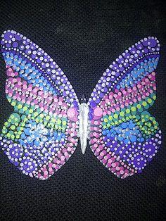 Mariposa tonos frios