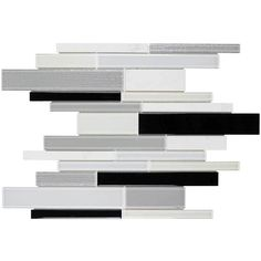 Elida Ceramica Spotlight Linear Blend Mosaic Stone and Glass Wall Tile (Common: 12-in x 12-in; Actual: 11-in x 11.75-in)