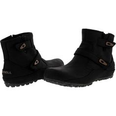 Merrell - Women's Haven Dou Waterproof Boots - Black Merrell Shoes, Waterproof Boots, Zip Ups, Sneakers, Leather, Closure, Black, Easy, Women