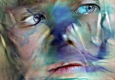 Immersed #girl #face #portrait #color #blendedimages #icolorama #ipadart #digitalart #mobileart
