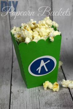 DIY Popcorn Boxes with initials using @silhouettepins machine - A Spark of Creativity