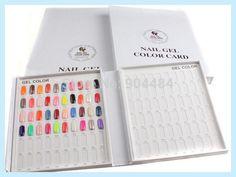 Nails Colors Chart Display Gel Polish Swatches Board Card Frame False Nail Tips Art Tip 120 Livre Nuancier Ongle Books Charts
