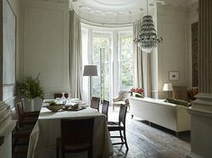 Rose Uniacke - Interiors - London, SW1 - I like a dining area open to the living space, not closed up in a separate room.