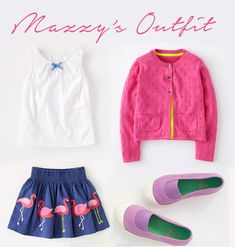 This is the outfit my 4yo daughter picked out herself from Mini Boden. The great thing is— with Mini Boden your kids really can't go wrong!