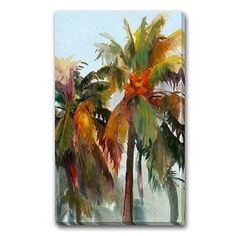 Sunset Palm Outdoor Wall Art