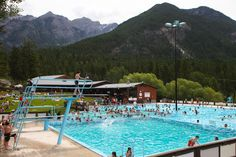 Canada's largest natural mineral hot springs #FairmontHotSpringsResort #hotsprings #hotpools #publicpools #destinationbc #tourismbc #BritishColumbia #naturalhotsprings