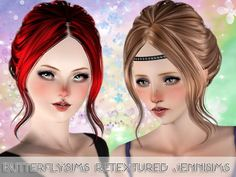 Sims 3 Finds - ButterflySims Hair 085 Retextured at Jenni Sims 3