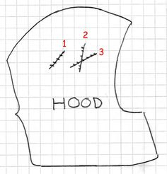 Hood Costume Pattern-idea for making heads for the  animal costumes