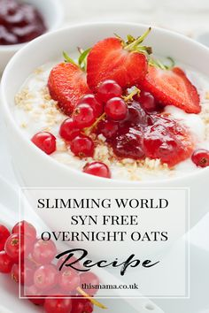 SLIMMING WORLD SYN FREE OVERNIGHT OATS