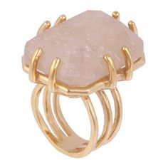 Kelly Wearstler Hampstead Ring ($148) ❤ liked on Polyvore featuring jewelry, rings, accessories, jewels, anillos, gold vein quartz, handcrafted rings, handcrafted jewellery, 18 karat white gold ring and statement rings