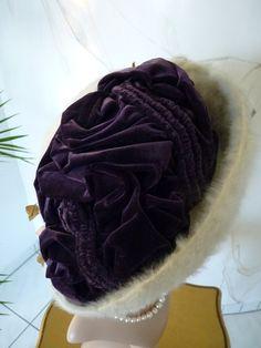 1908 Edwardian Autumn Hat  Cream-white mohair f15aad66dc62