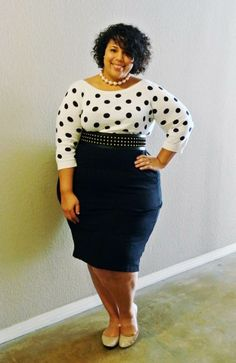 GarnerStyle | The Curvy Girl Guide: Stealing Polka Dots
