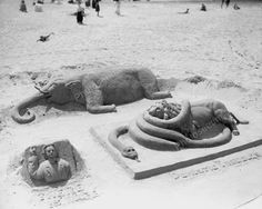 Beach Sand Sculptures Atlantic City 1910 Vintage 8x10 Reprint Of Old Photo
