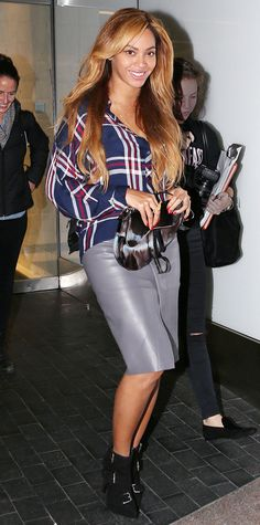 Look of the Day - November 2, 2014 - Beyonce in Rails from #InStyle