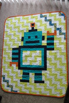 Robot quilt by Happytownkate, via Flickr