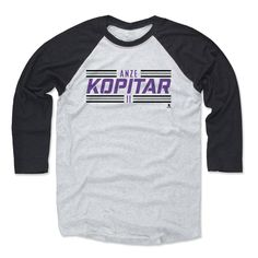 Anze Kopitar Striped Font P Los Angeles Officially Licensed NHLPA Baseball T-Shirt Unisex S-3XL