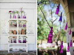 Chicago to Nashville Desintation Wedding at Historic Cedarwood | Purples vases match my color scheme #cedarwoodweddings
