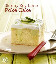 If you bring this refreshing Key lime poke cake to your next gathering, get ready to share the recipe. No one will be able to tell it's a lightened-up version of the original!
