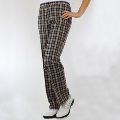 Green Lamb - Lined Check trousers-1 leg length
