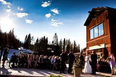 A wedding ceremony at Ten Mile Station.