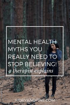 Mental Health Myths You Really Need to Stop Believing (A Therapist Explains - Anxiety and Depression How To Calm Anxiety, Anxiety Tips, Social Anxiety, Anxiety Relief, Depression Support, Beating Depression, Mental Health, Health And Fitness, Psychology