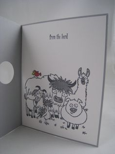 From the Herd (inside card)- IN AND OUT Technique -Stampin' Up by Miechelle Weber