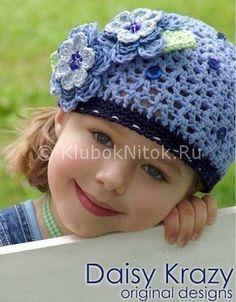 Ажурные шапочки на лето | Вязание для девочек | Вязание спицами и крючком…
