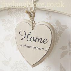 Hanging Slogan Heart-Home
